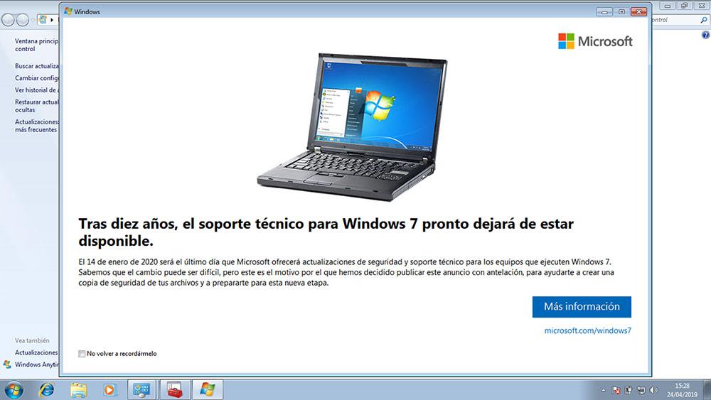 Tienda para actualizar a Windows 10